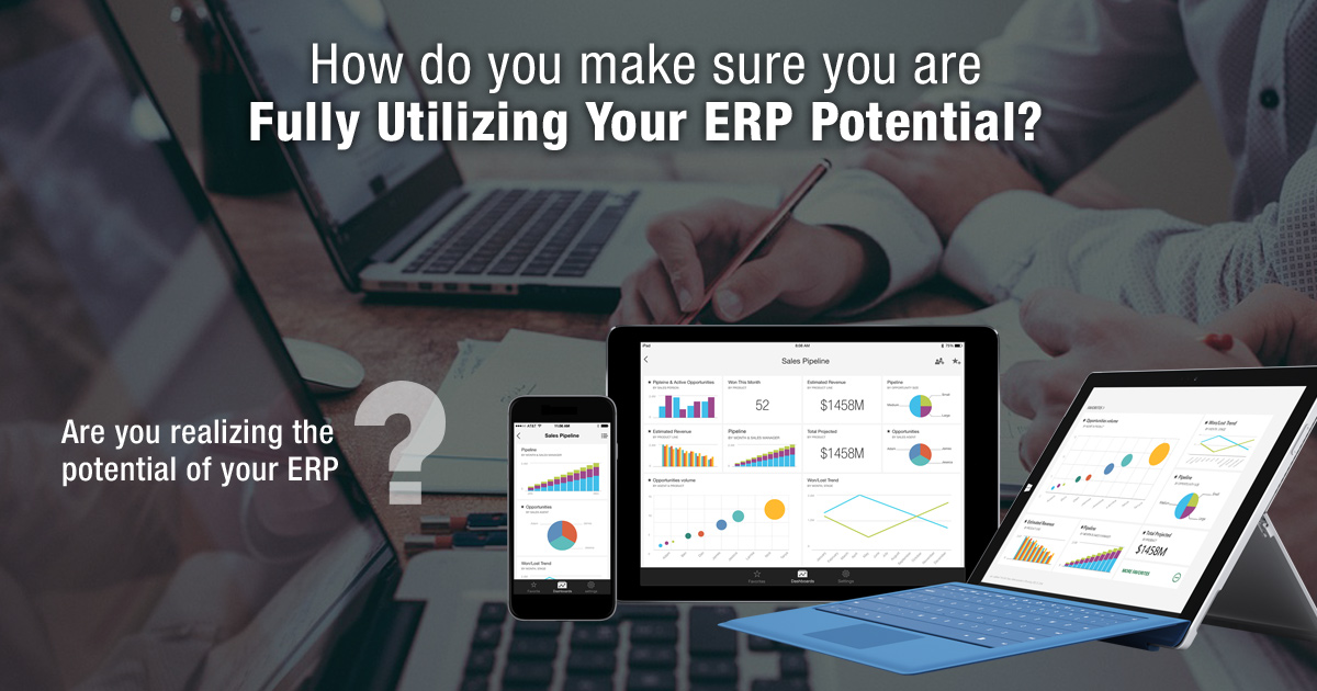 How do you make sure you are fully utilizing your ERP potential?