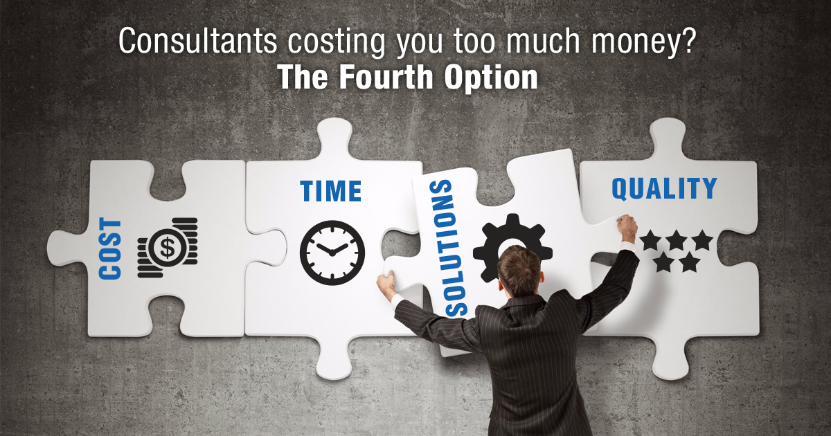 Consultants Costing You Too Much Money?The Fourth Option
