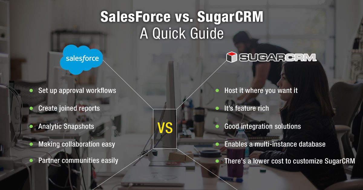 SalesForce vs. SugarCRM: A Quick Guide