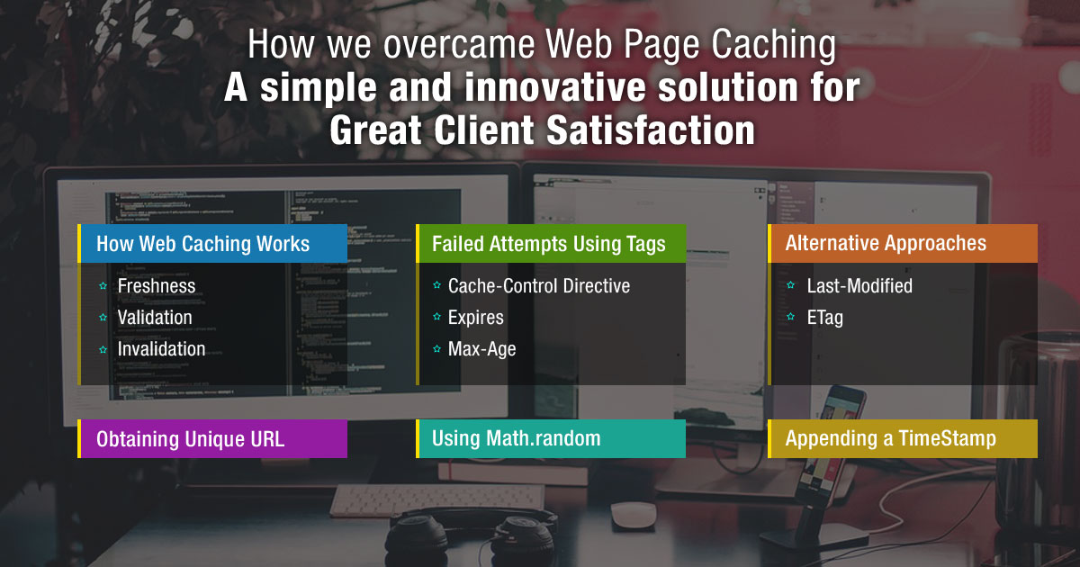 How We Overcame Web Page Caching: A Simple and Innovative Solution for Great Client Satisfaction