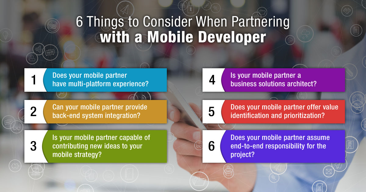 6 Things to Consider When Partnering with a Mobile Developer