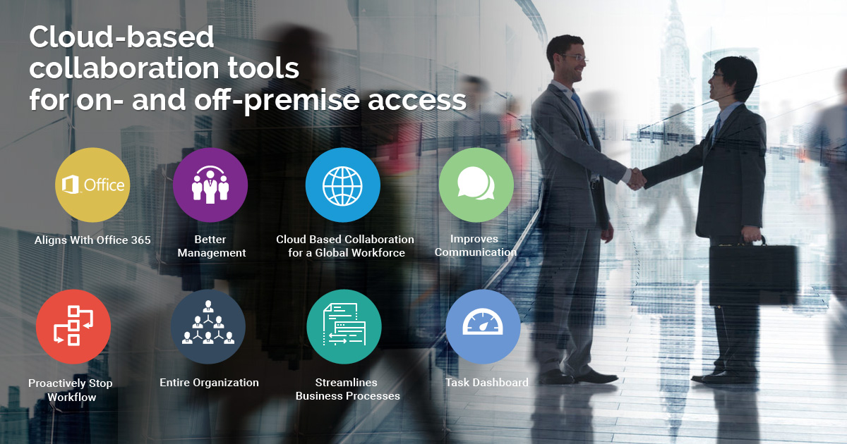 Cloud-based collaboration tools for on- and off-premise access