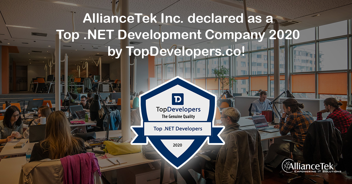 AllianceTek Inc. declared as a Top .NET development Company of 2020 by TopDevelopers.co!