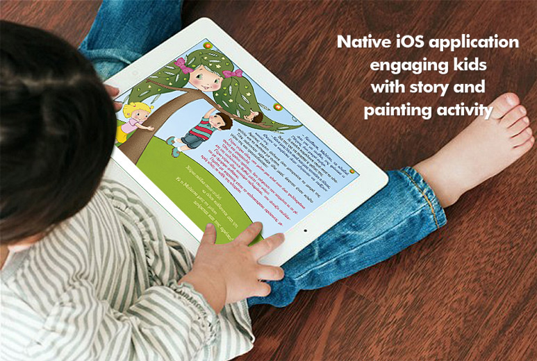 Mobile Story Telling and Gaming for Kids