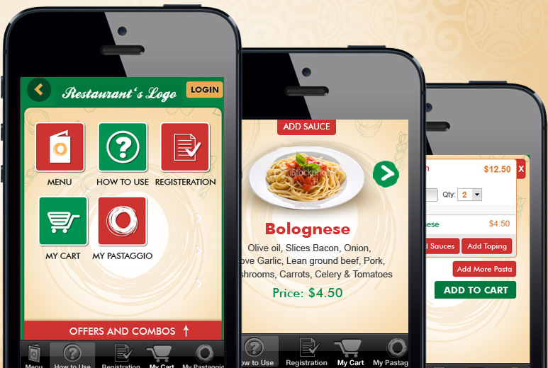 Mobile Restaurants iOS and Android mobile Application Portfolio